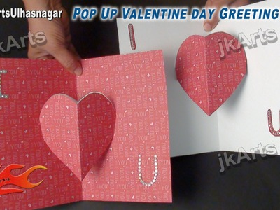 Easy Valentine's Day Pop Up Greeting Card Tutorial - JK Arts 485