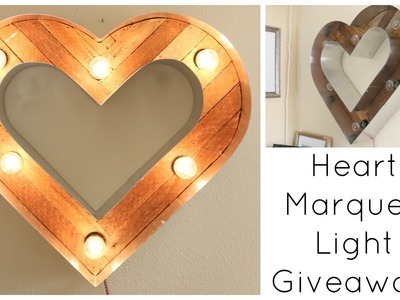 Heart Marquee Light Giveaway! CLOSED