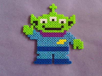 How to Make a Toy Story Three-Eyed Alien Perler Bead Sprite