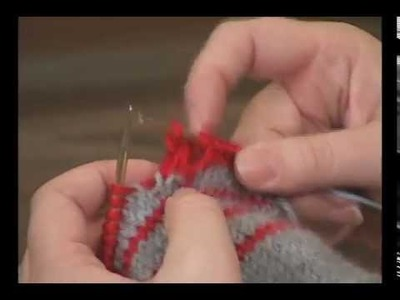 How to Wrap Stitches and Drop them in the Next Row