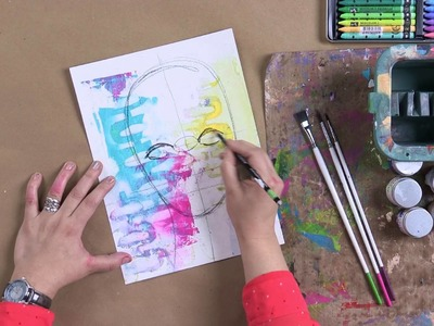 Learn to Draw Artistic Faces with Dina Wakley