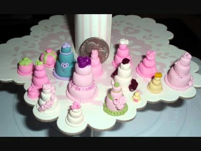 Minature Polymer Clay Cakes!  Teeny Tiny wedding cakes!!!