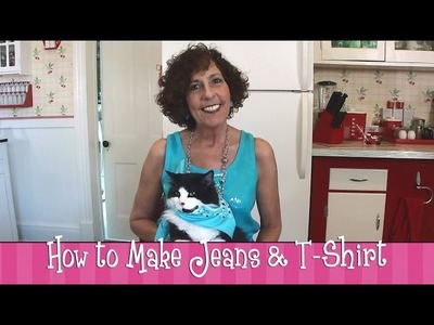 Polymer Clay Tutorial - How to make Jeans & a T-Shirt
