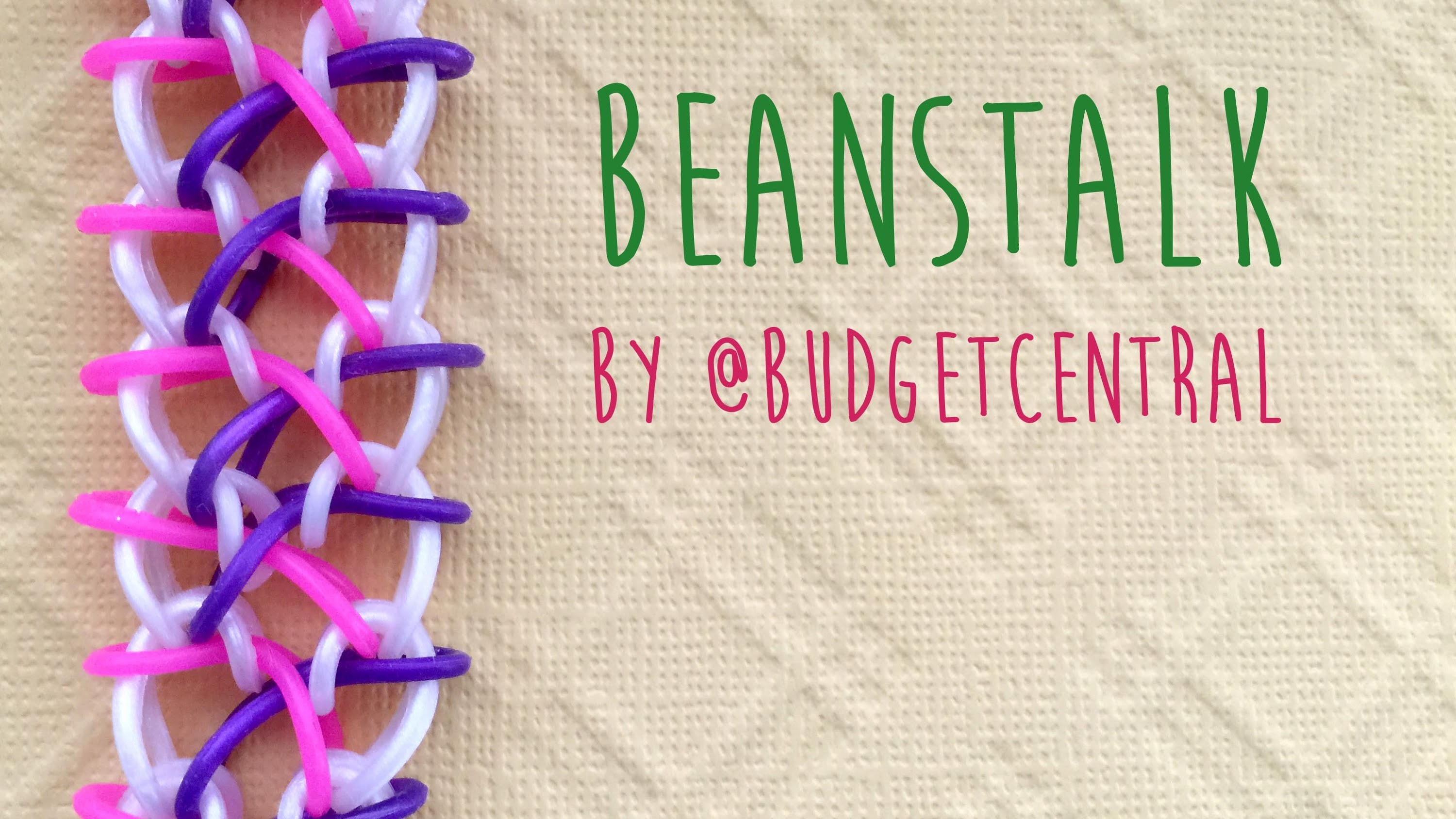 Rainbow Loom Bands Tutorial Beanstalk Bracelet by @BudgetCentral