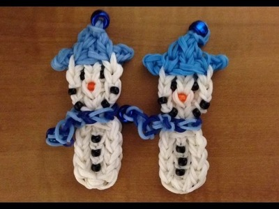 Rainbow Loom: Snowman Charm - Original Design