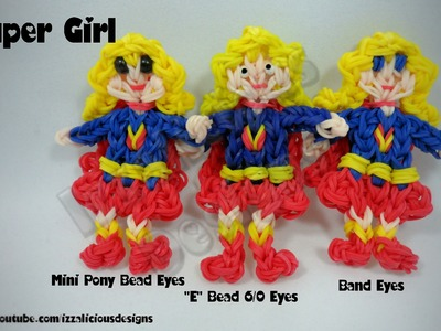 Rainbow Loom Supergirl Action Figure.Charm