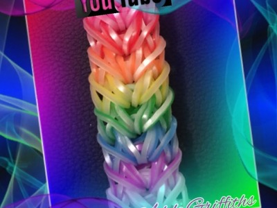 Rainbow Loom Twisted Ribbons Bracelet Tutorial.How to