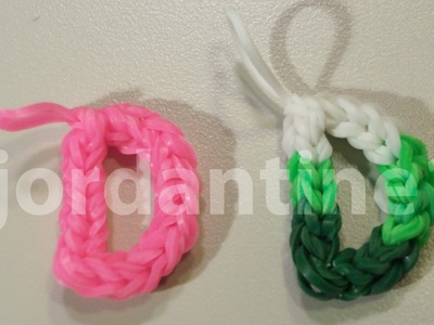 Skinny Letter D Alphabet Charm - Rainbow Loom, Crazy Loom