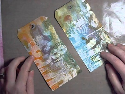 Stamping with Gesso