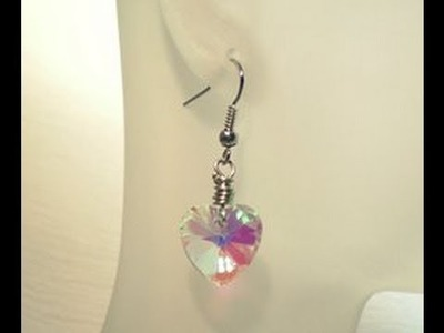 Wire Wrapped Crystal Earrings Tutorial