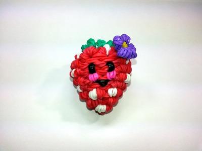3-D Happy Strawberry Tutorial by feelinspiffy (Rainbow Loom)