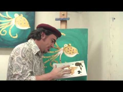 Art Lesson: How to paint Sea Creatures with your Finger