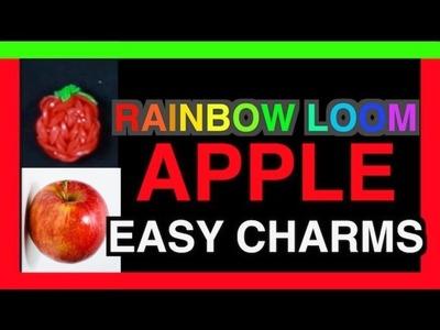 CHARMS RAINBOW LOOM EASY -  HOW TO MAKE an APPLE