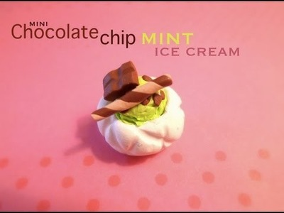 CHOCOLATE CHIP MINT ICE CREAM - Polymer Clay Tutorial