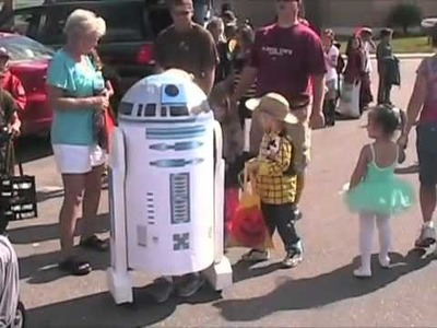 Coolest Homemade R2D2 Costume