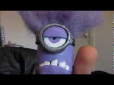 Despicable Me 2 Polymer Clay Evil Purple Minion