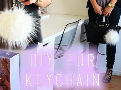 DIY Fur Keychain