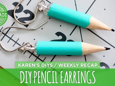 DIY Pencil Earrings - HGTV Handmade