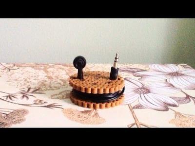 DIY: Perler Bead Headphones.Cord Organizers!