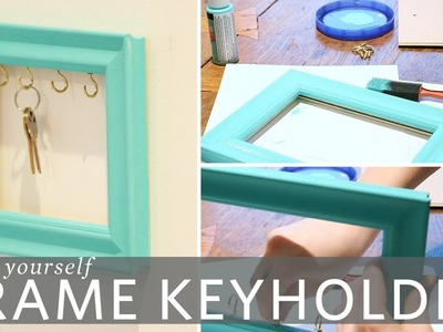 DIY Picture Frame Key Holder