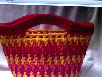 FREE WRITTEN PATTERN - Brick Stitch Bag