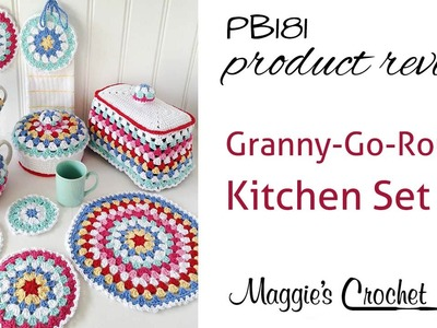 Granny-Go-Round Kitchen Set Crochet Pattern Product Review PB181