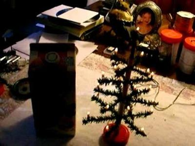 Handmade Christmas Feather tree