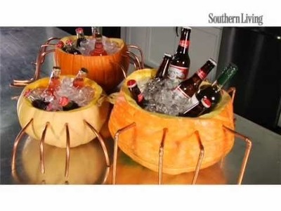 How to Create Pumpkin Coolers For Perfect Halloween Decorations | Southern Living