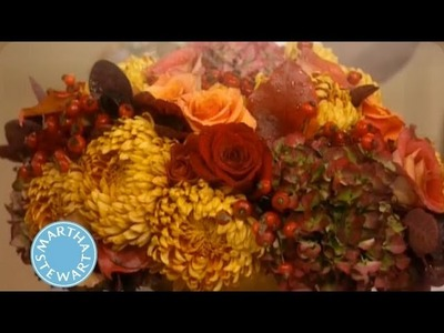 How to Create Thanksgiving Floral Centerpieces | Thanksgiving Decorations | Martha Stewart