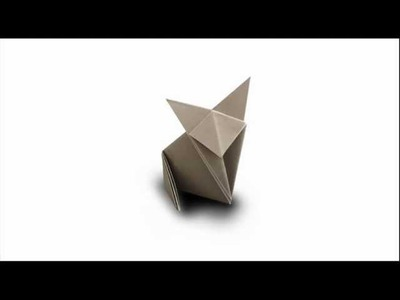 How to fold an Origami Cat. Fox