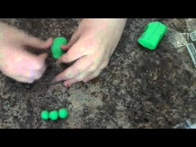How To Make 3 Peas In A Pod Polymer Clay Tutorial.