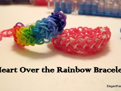 How to make Rainbow Heart Bracelet on Rainbow Loom