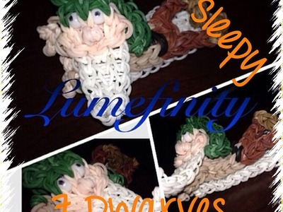 Rainbow Loom bands Sleepy - Snow white and the seven Dwarves figure charm by Lumefinity - How to