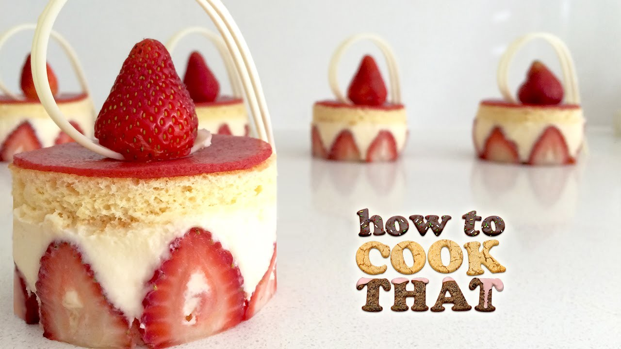 STRAWBERRY FRAISIER DESSERT RECIPE How To Cook That Ann Reardon