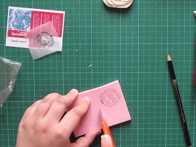 Valentine - how to carve your own stamp from rubber - valentine rose carving