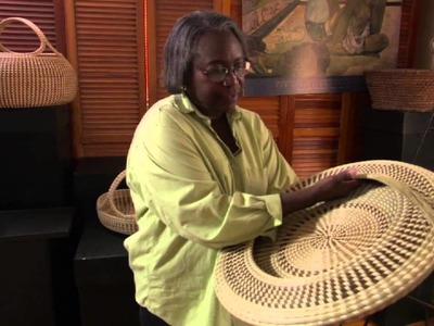 Basket maker Mary Jackson explains how rice is separated from the chaff