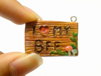 Best Friend Wooden Sign Charm Tutorial