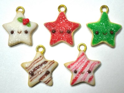 ★ Christmas Sugar Cookie Stars Polymer Clay Tutorial ★