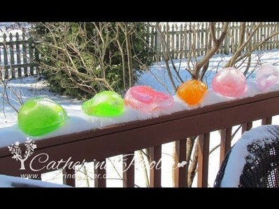 Colored Ice Orbs on a snow day!