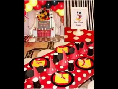 [ Decoration Ideas ] Mickey mouse party decorations