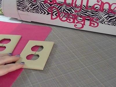 Decoupage light switch Zebra print