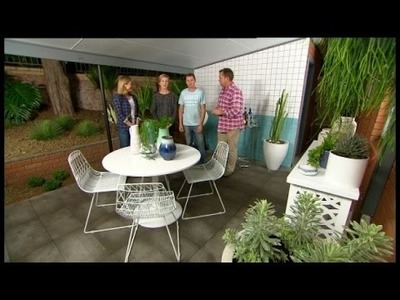 DIY: create a stylish outdoor entertaining area