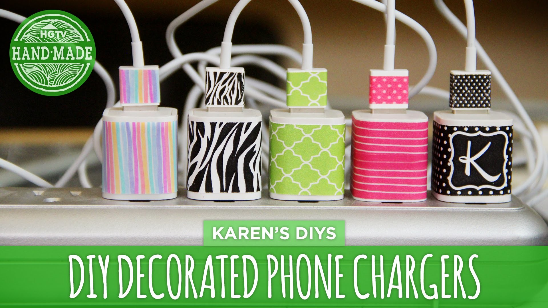 DIY Decorated Phone Chargers - HGTV Handmade