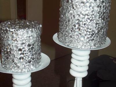 DIY: Design On A Dime FAUX GLASS CANDLES W. Storage