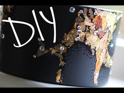 DIY: Gold Leaf Jar