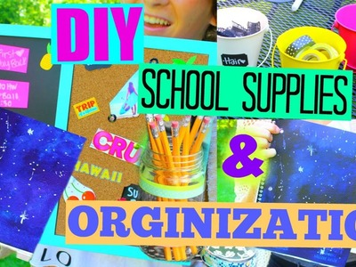 DIY SCHOOL SUPPLIES & Organization! 2015 Back to School