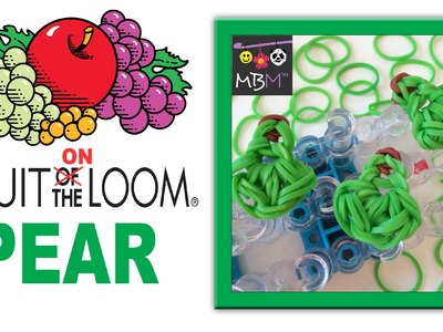Fruit ON the Rainbow Loom - Pear Charm for Bracelets or Dolls