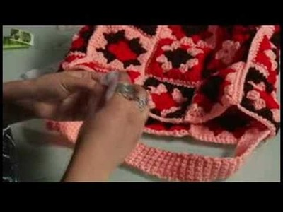 How to Crochet a Bag : Crochet: Attach Velcro