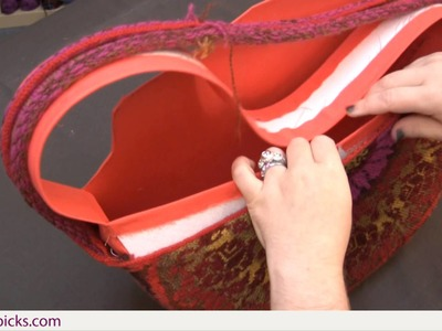 How to Line the East Meets West Bag Part 6: Inserting the Lining