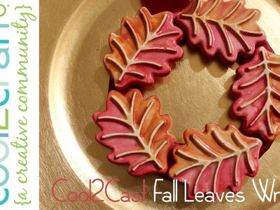 How to Make a Cool2Cast Fall Leaves Mini Wreath